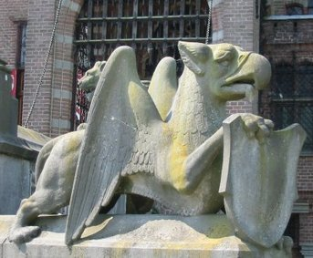 A griffin statue in the Netherlands.